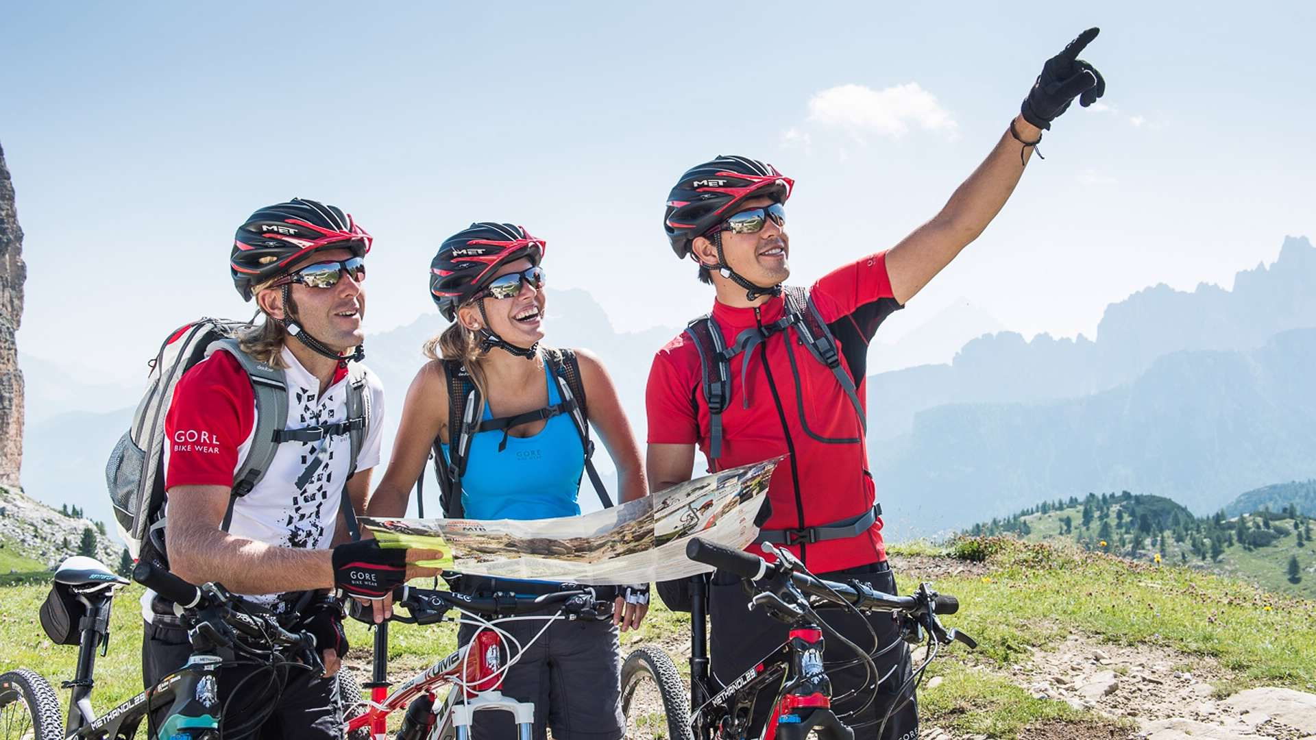 Guided or self guided bike tours with GPS