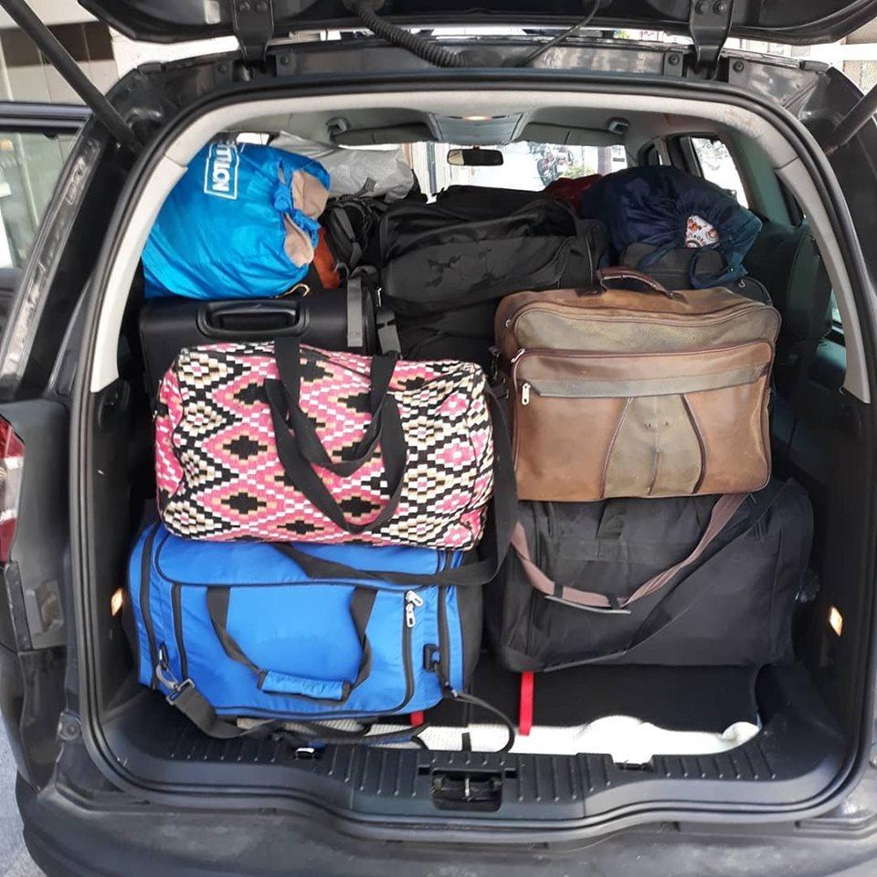 Transport de valises et de sacs à dos