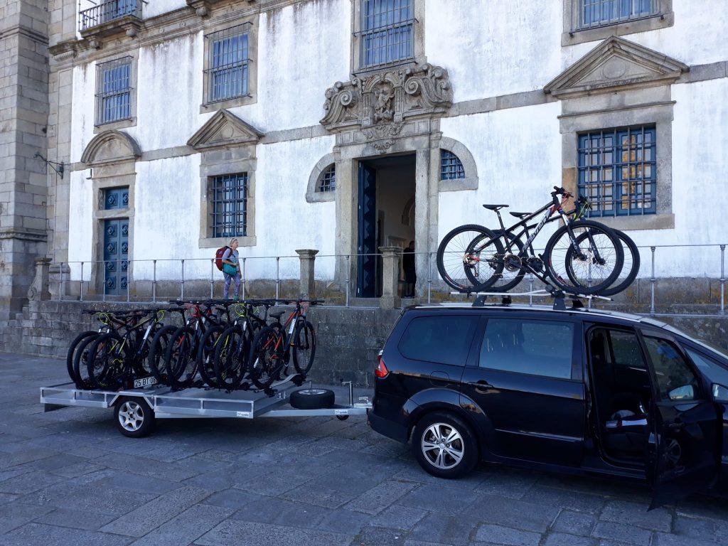 Transportservice für Fahrräder und Radfahrer