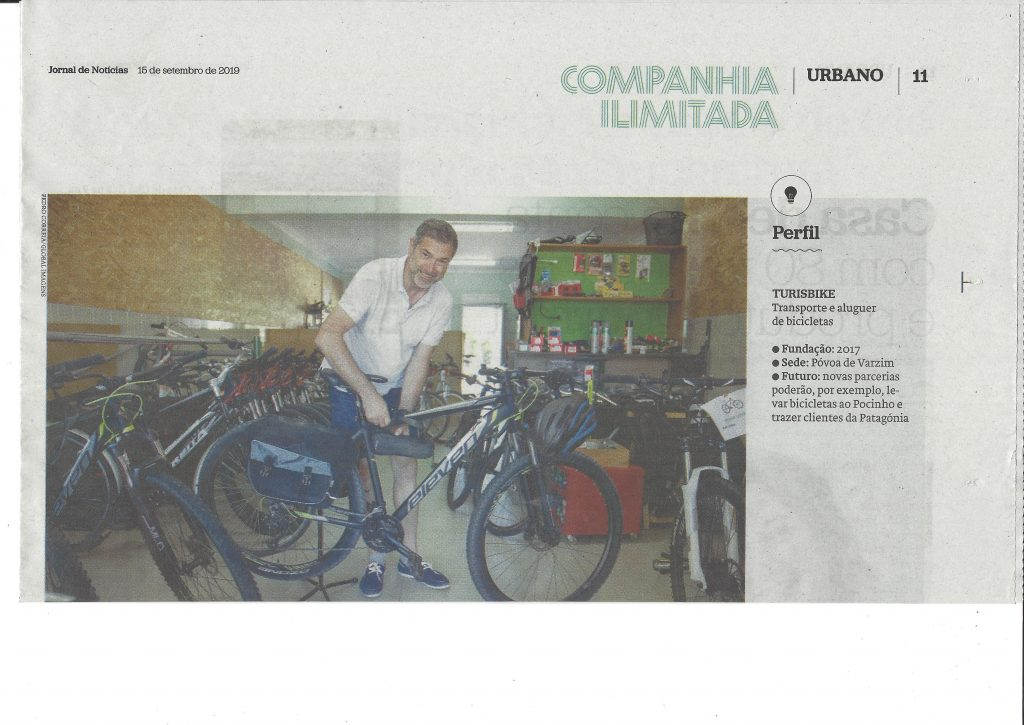 News about Turisbike in the Jornal de Noticias