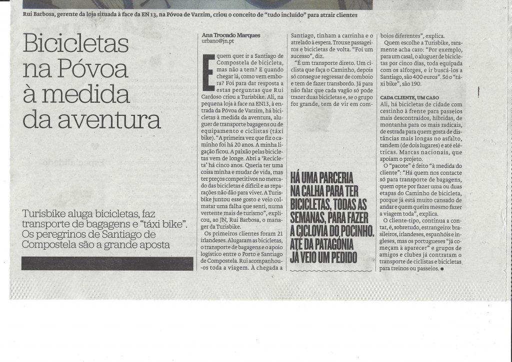 News about Turisbike in Urbano magazine