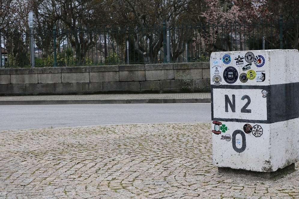 National Road 2, by bike from north to south of Portugal