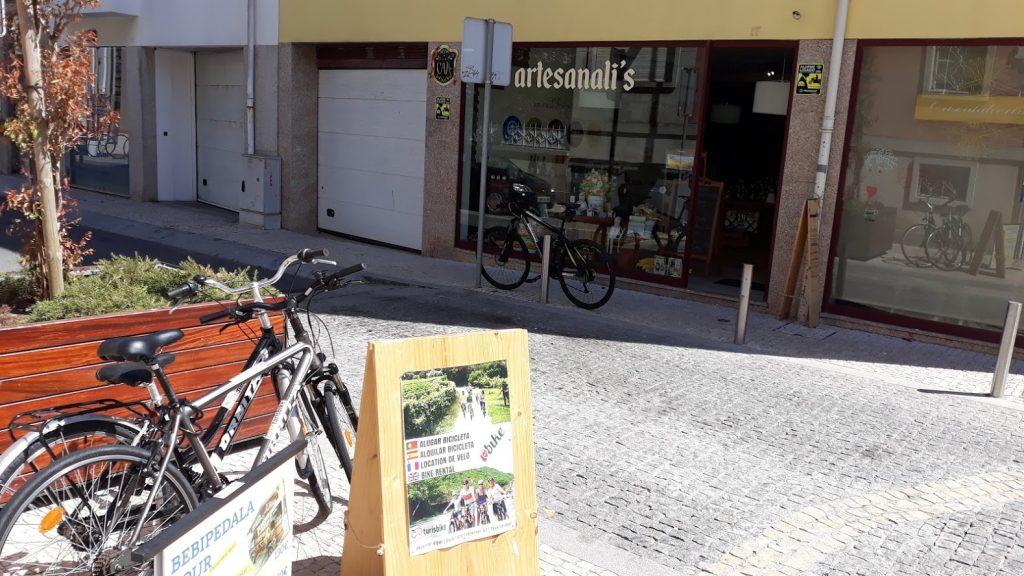 Artesanali's agora tem bicicletas de aluguer da Turisbike