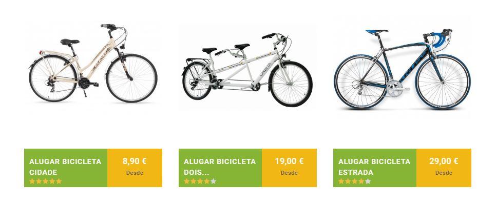 Alquiler de bicicletas de carretera o de dos plazas