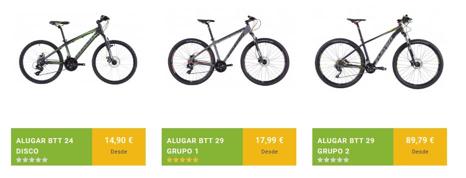 Mountain bike Eleven Vortex 3 for rent on the Way to Santiago